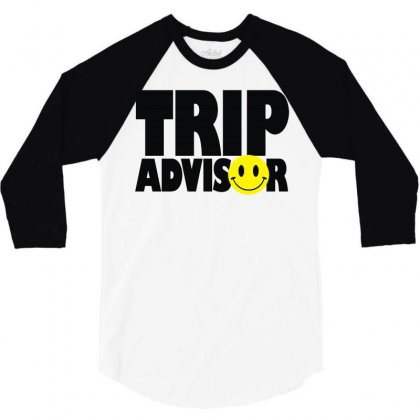 Trip Advisor 3/4 Sleeve Shirt Designed By Mdk Art