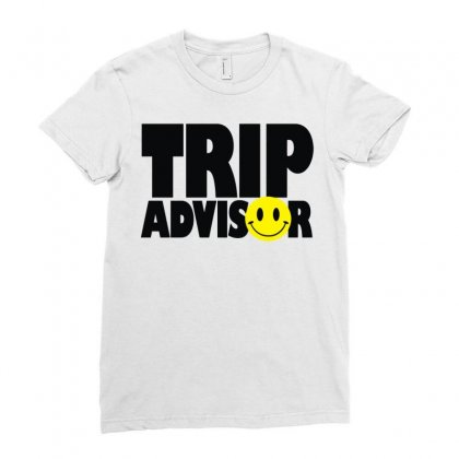 Trip Advisor Ladies Fitted T-shirt Designed By Mdk Art