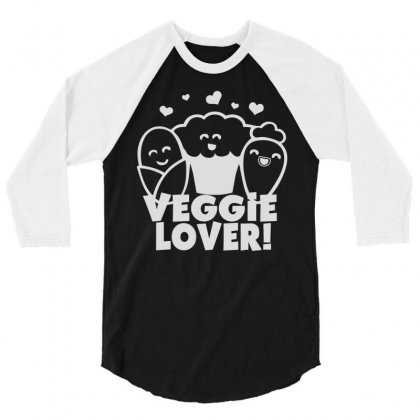 Vegetarian 3/4 Sleeve Shirt Designed By Mdk Art