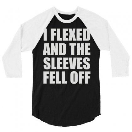 Weight Lifting Gym Fitness Training 3/4 Sleeve Shirt Designed By Mdk Art
