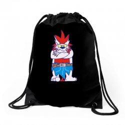 wild aztec monster Drawstring Bags | Artistshot