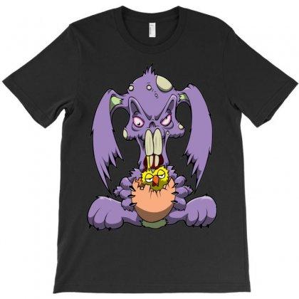 Zombie Bunny Loves Brains T-shirt Designed By Mdk Art