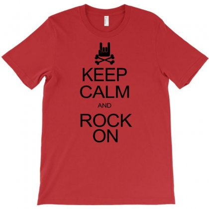Keep Calm And Rock On Mens Black T Shirt Rock Music New T-shirt Designed By Mdk Art