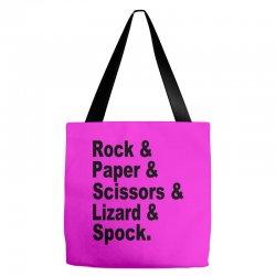 rock paper scissors lizard spock big bang theory geek nerd gift t shir Tote Bags | Artistshot