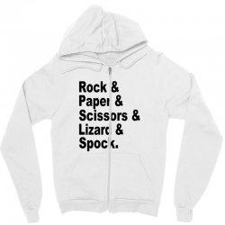 rock paper scissors lizard spock big bang theory geek nerd gift t shir Zipper Hoodie | Artistshot