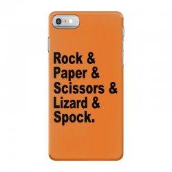 rock paper scissors lizard spock big bang theory geek nerd gift t shir iPhone 7 Case | Artistshot