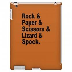 rock paper scissors lizard spock big bang theory geek nerd gift t shir iPad 3 and 4 Case | Artistshot