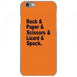 rock paper scissors lizard spock big bang theory geek nerd gift t shir iPhone 6/6s Case | Artistshot