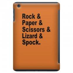 rock paper scissors lizard spock big bang theory geek nerd gift t shir iPad Mini Case | Artistshot