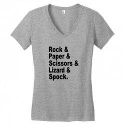 rock paper scissors lizard spock big bang theory geek nerd gift t shir Women's V-Neck T-Shirt | Artistshot