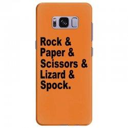 rock paper scissors lizard spock big bang theory geek nerd gift t shir Samsung Galaxy S8 Plus Case | Artistshot