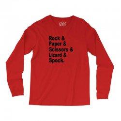rock paper scissors lizard spock big bang theory geek nerd gift t shir Long Sleeve Shirts | Artistshot