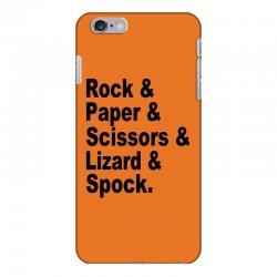 rock paper scissors lizard spock big bang theory geek nerd gift t shir iPhone 6 Plus/6s Plus Case | Artistshot