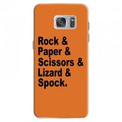 rock paper scissors lizard spock big bang theory geek nerd gift t shir Samsung Galaxy S7 Case | Artistshot