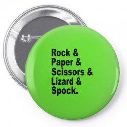 rock paper scissors lizard spock big bang theory geek nerd gift t shir Pin-back button | Artistshot