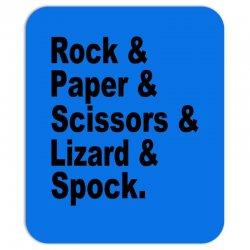 rock paper scissors lizard spock big bang theory geek nerd gift t shir Mousepad | Artistshot