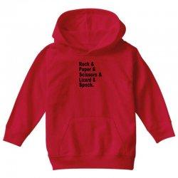 rock paper scissors lizard spock big bang theory geek nerd gift t shir Youth Hoodie | Artistshot