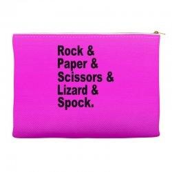rock paper scissors lizard spock big bang theory geek nerd gift t shir Accessory Pouches | Artistshot