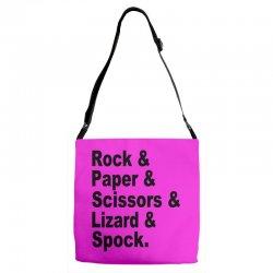 rock paper scissors lizard spock big bang theory geek nerd gift t shir Adjustable Strap Totes | Artistshot