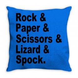 rock paper scissors lizard spock big bang theory geek nerd gift t shir Throw Pillow | Artistshot