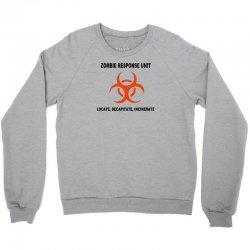zombie response unit t shirt funny dead brains s 3xl Crewneck Sweatshirt | Artistshot