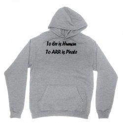 to err is human funny t shirt pirate humor parody s 3xl Unisex Hoodie   Artistshot