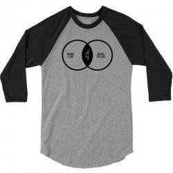 music elitism venn diagram musician indie snob rock geek shirt t shirt 3/4 Sleeve Shirt | Artistshot