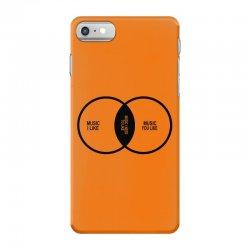 music elitism venn diagram musician indie snob rock geek shirt t shirt iPhone 7 Case | Artistshot