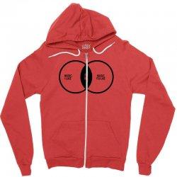 music elitism venn diagram musician indie snob rock geek shirt t shirt Zipper Hoodie | Artistshot