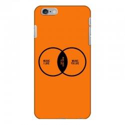 music elitism venn diagram musician indie snob rock geek shirt t shirt iPhone 6 Plus/6s Plus Case | Artistshot