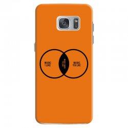 music elitism venn diagram musician indie snob rock geek shirt t shirt Samsung Galaxy S7 Case | Artistshot