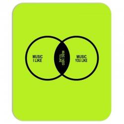 music elitism venn diagram musician indie snob rock geek shirt t shirt Mousepad | Artistshot
