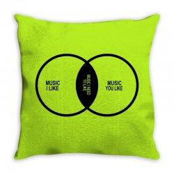 music elitism venn diagram musician indie snob rock geek shirt t shirt Throw Pillow | Artistshot