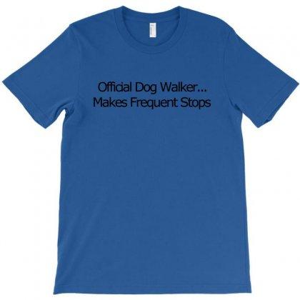 Funny T Shirt Official Dog Walker. T-shirt Designed By Mdk Art