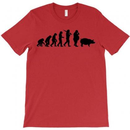 Evolution Of Junk Food T Shirt Fast Ape To Pig Mens New T-shirt Designed By Mdk Art