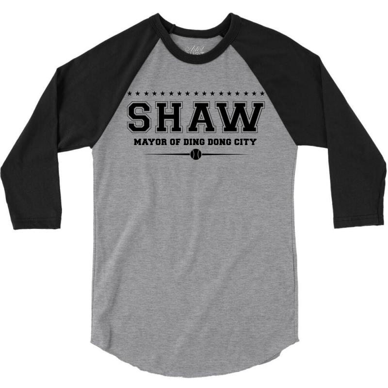 Travis Shaw, Mayor Of Ding Dong City 3/4 Sleeve Shirt | Artistshot