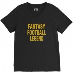 fantasy football legend sunday night football sports league tee shirt V-Neck Tee | Artistshot