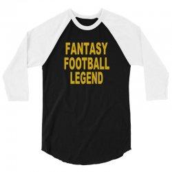 fantasy football legend sunday night football sports league tee shirt 3/4 Sleeve Shirt | Artistshot