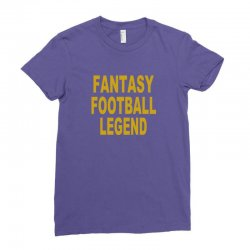 fantasy football legend sunday night football sports league tee shirt Ladies Fitted T-Shirt | Artistshot