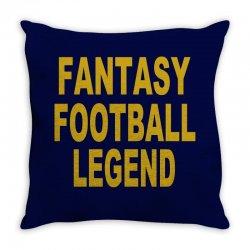 fantasy football legend sunday night football sports league tee shirt Throw Pillow | Artistshot