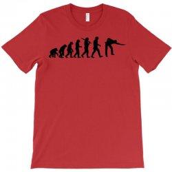 evolution of snooker or pool ape to player mens black new t shirt top T-Shirt | Artistshot
