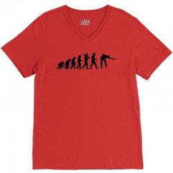 evolution of snooker or pool ape to player mens black new t shirt top V-Neck Tee | Artistshot