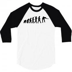 evolution of snooker or pool ape to player mens black new t shirt top 3/4 Sleeve Shirt | Artistshot