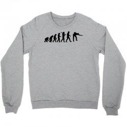 evolution of snooker or pool ape to player mens black new t shirt top Crewneck Sweatshirt | Artistshot