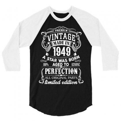 Vintage 1949 3/4 Sleeve Shirt Designed By Sabriacar