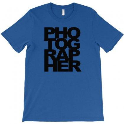 Photographer Camera Photography Modern Text Photos Scrapbook Geek T Sh T-shirt Designed By Mdk Art