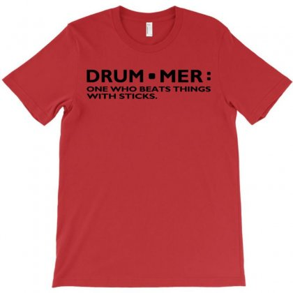 Definition Of A Drummer Music Drum Sticks Rock Band Musician Geek Shir T-shirt Designed By Mdk Art