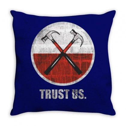 Roger Waters Trust Us Pink Floyd Progressive Throw Pillow Designed By Mdk Art