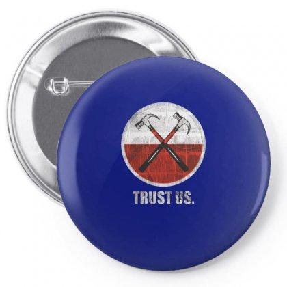 Roger Waters Trust Us Pink Floyd Progressive Pin-back Button Designed By Mdk Art