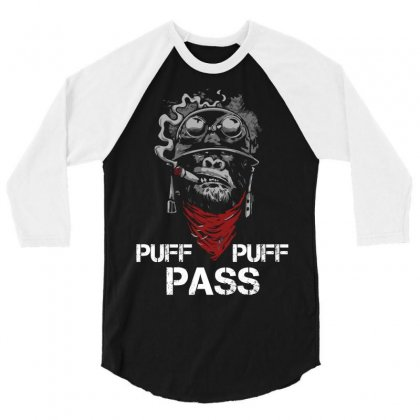 Puff Puff Pass 3/4 Sleeve Shirt Designed By Sabriacar